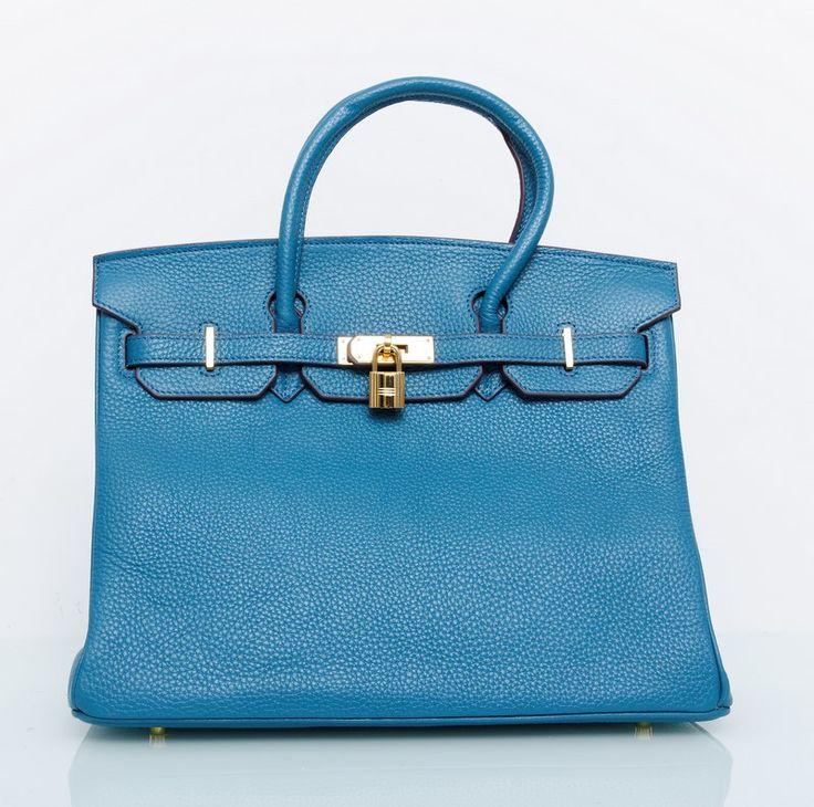 Сумка Hermes Birkin 35 см синяя