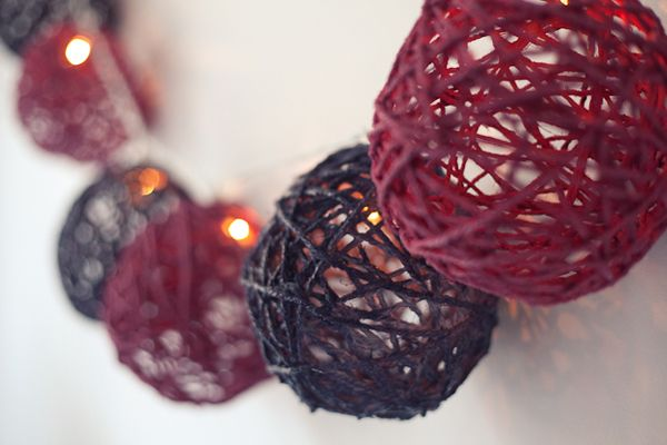 DIY Craft Project: How to craft a twine-ball light garland