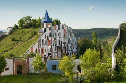 Blumau Spa in Austria - designed by Hundertwasser...for a different spa getaway.
