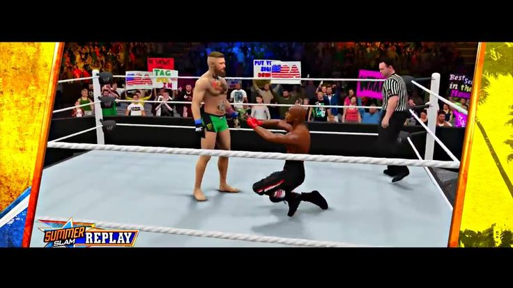 The Conor McGregor v Floyd Mayweather fight we've all been waiting for... on WWE 2K16.