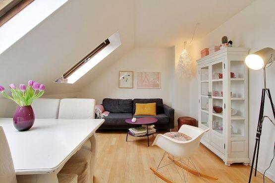 Peque a buhardilla estudio de 43 m para chicas - Casas con buhardilla ...
