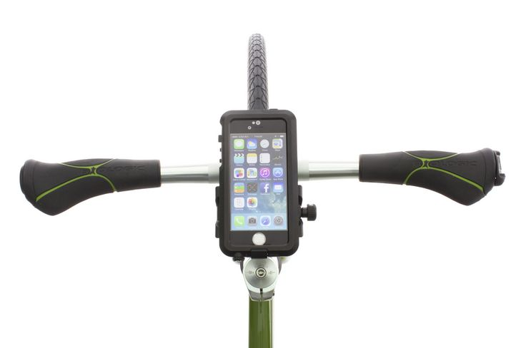 The BioLogic AnchorPoint bar mount can mount cases in portrait mode. http://www.thinkbiologic.com/products/anchorpoint-bar-mount