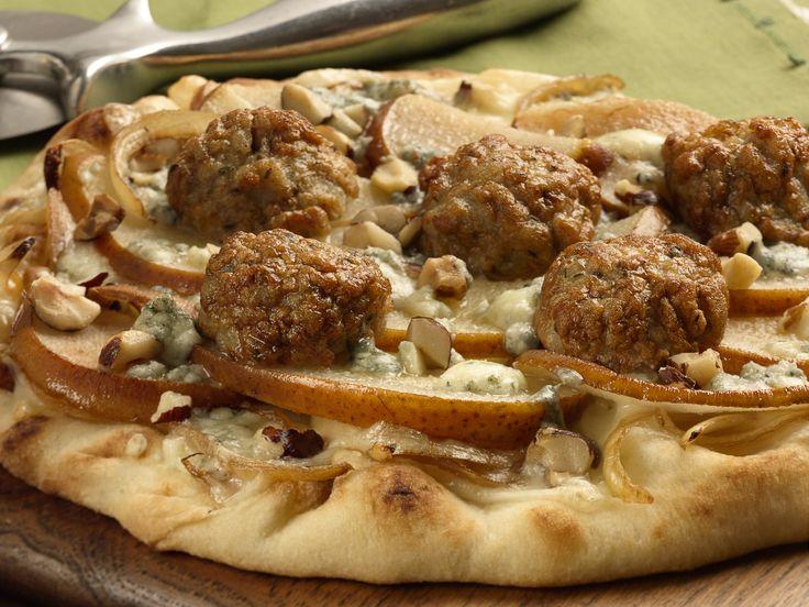 al fresco Caramelized Onion Chicken Meatball & Apple Pizza ...