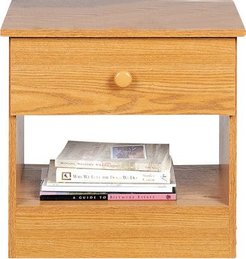 Casual Bedroom 1 Drawer Nightstand
