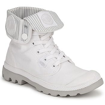 Boots / Chaussures montantes Palladium BAGGY LITE Blanc / Gris 350x350