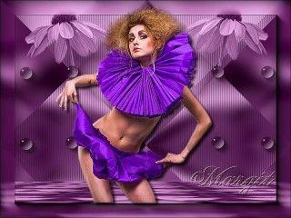 Lila ruhás táncosnő