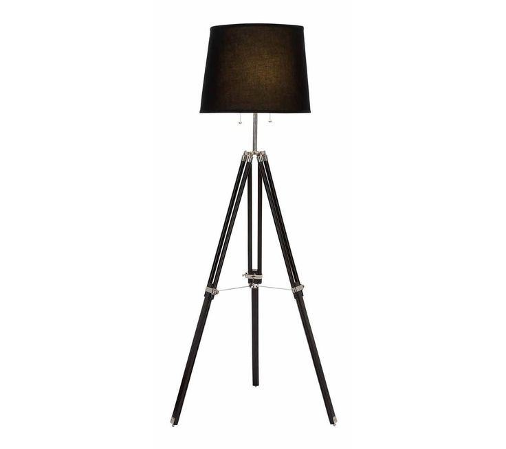 17 Best images about Tripod Lights - Table Lamps and Floor Lamps ...:Adjustable Tripod Dark Brown Shade Floor Lamp,Lighting