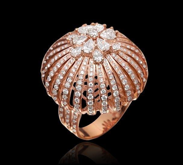 All Diamond Ring All diamond ring set in 18k rose gold. Looks like jellyfish
