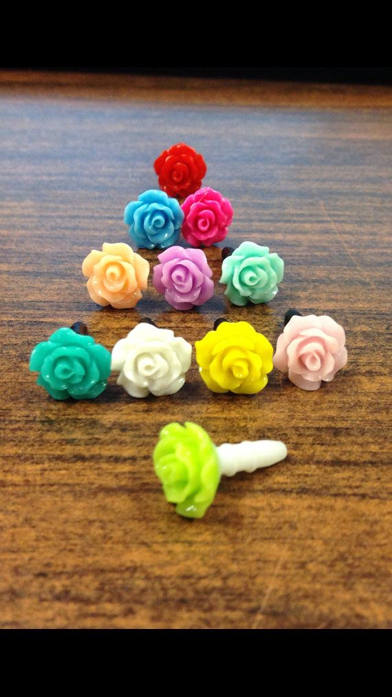 Rose Phone Dust Plug / Accessory