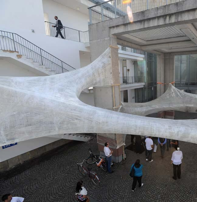 Tape Installation at 'Playing the City 2' exhibition [Kunsthalle Schirn, Frankfurt] presented by For Use / Numen