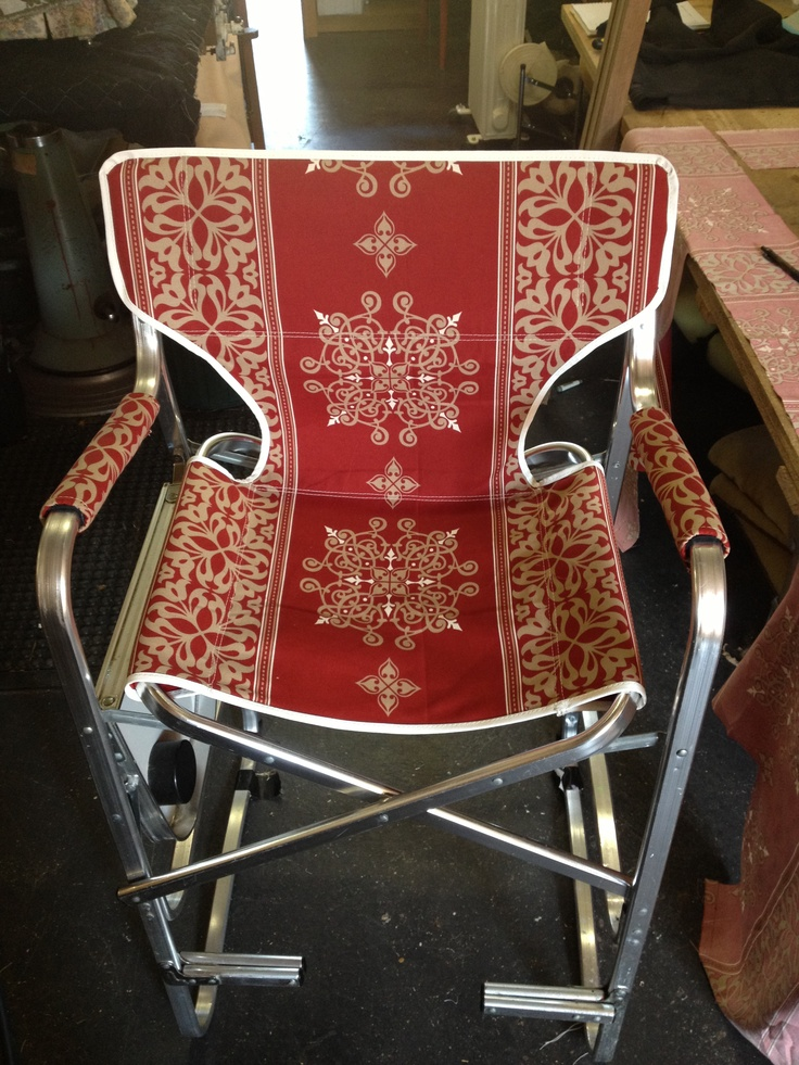 An amazing recovered directors chair.