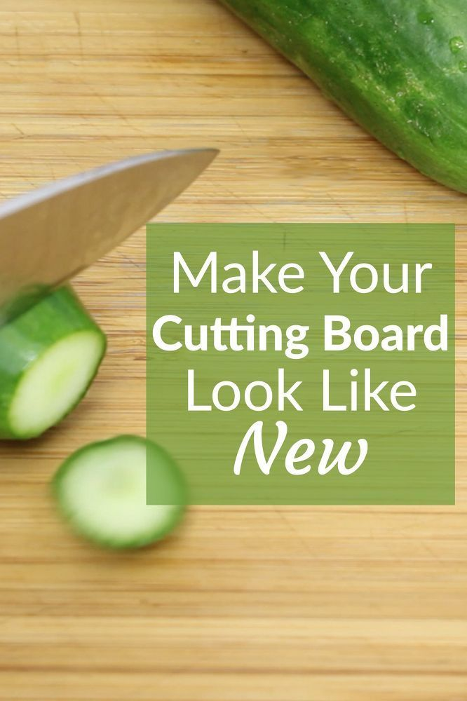 You'll be so happy you saw this! cutting boards can get old and ratty, but these instructions will teach you how to get yours looking like new again! #ad #cuttingboard #cleaning #kitchenDIY #hometalk