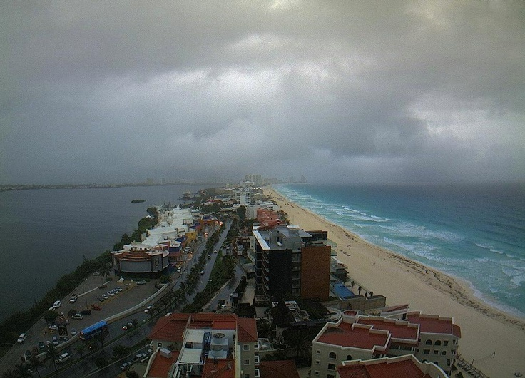 The hurricane season just started... View today in Cancun