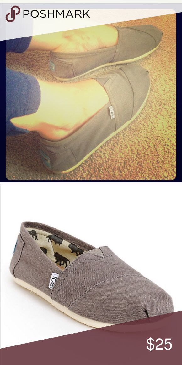 8.5 Gray TOMS Great condition! Size 8.5 but fits 7 1/2-8. TOMS Shoes Flats & Loafers