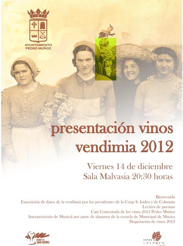 Presentación de los vinos de la cosecha 2012
