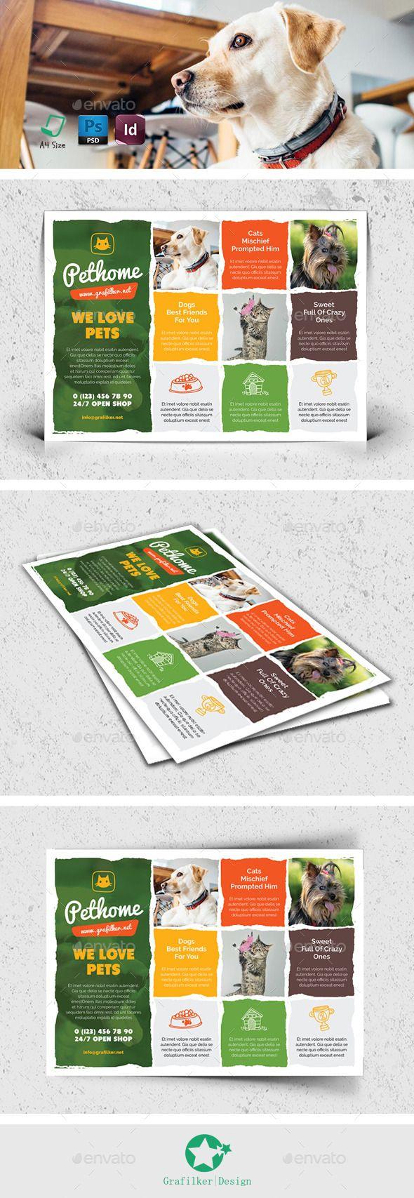 PSD Pet Shop Flyer Templates • Click here to download ! http://graphicriver.net/item/pet-shop-flyer-templates/12740247?ref=pxcr