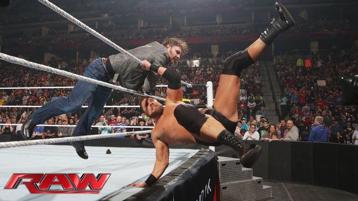 Dean Ambrose ambushes Curtis Axel: Raw, February 2, 2015