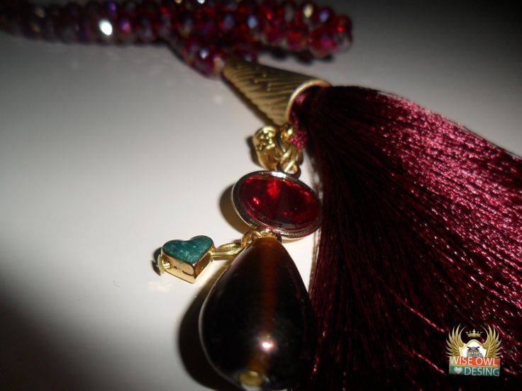 Bordeaux Tassel Necklace- By Nese Altinisik by AZZRAJEWELRY on Etsy