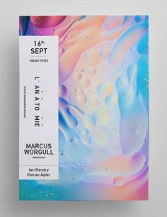 Showcase of Creative Designs Made with Vibrant Gradients poster design layout