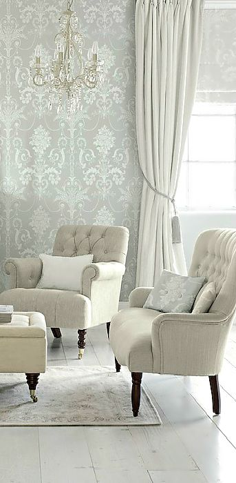 I love wallpaper! Sophisticated Style in Neutral Tones