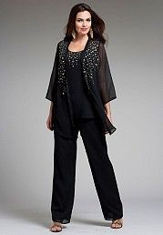 Ladies plus size formal pant suit