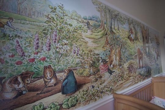1000 images about nursery ideas on pinterest ballerina for Beatrix potter wall mural