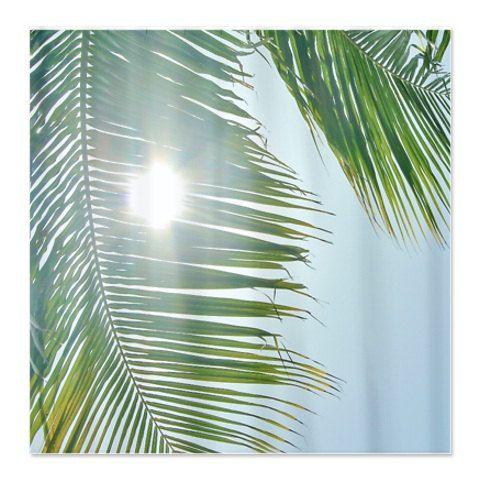 Palm Tree Bathroom Decor, Tropical Palm Shower Curtain, Palm Tree, Paradise