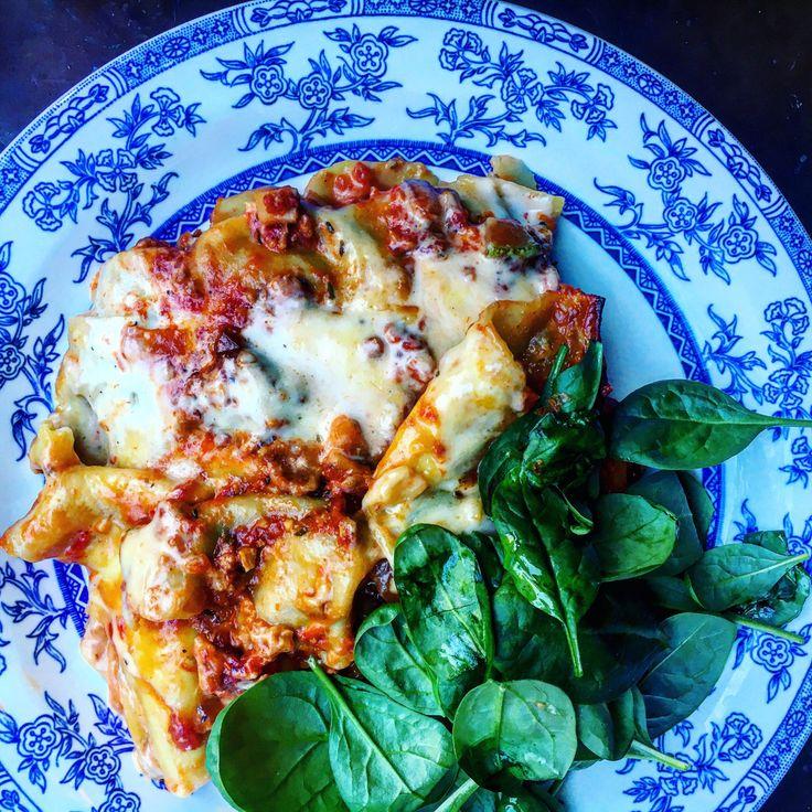 Vegansk lasagne med soltorkad tomat, zucchini och ostkräm   Tuvessonskan   Bloglovin'
