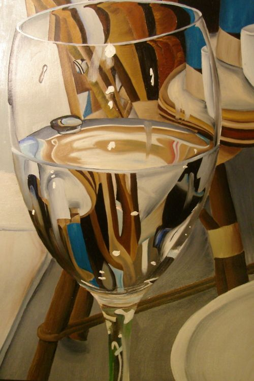 distorted wineglass