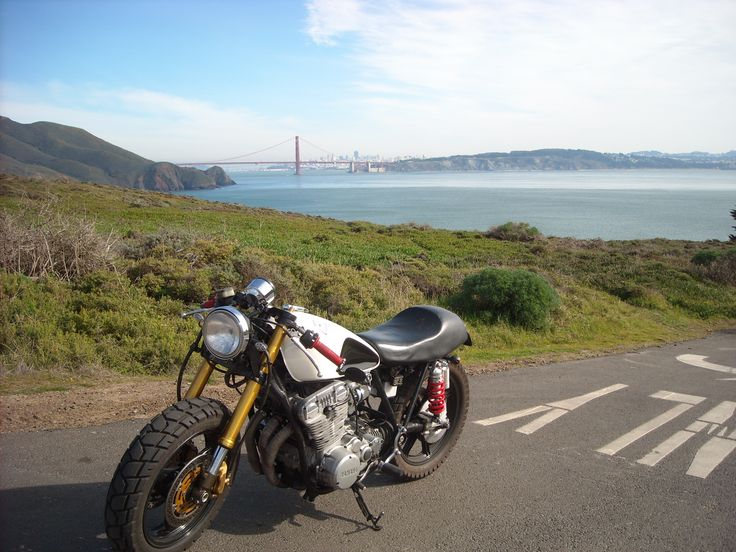 I took this picture while i was on a ride down to san francisco. i built this motorcycle as my senior project and i sometimes enjoy testing testing how far my work will take me, in this instance the amount of effort put into this project, directly relates to how long it will stay running and not on the side of the road.