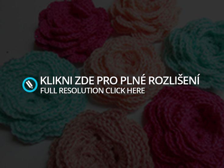 Crochet rose tutorial. Háčkovaná růže návod