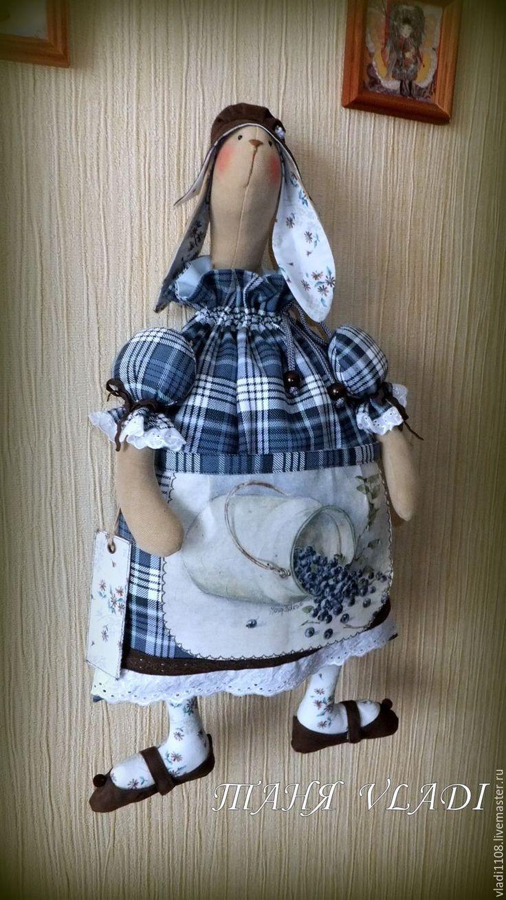 Купить ЧЕРНИКА пакетница - пакетница, кролик, крольчиха, заяц текстильный, кухня кантри, хранение пакетов