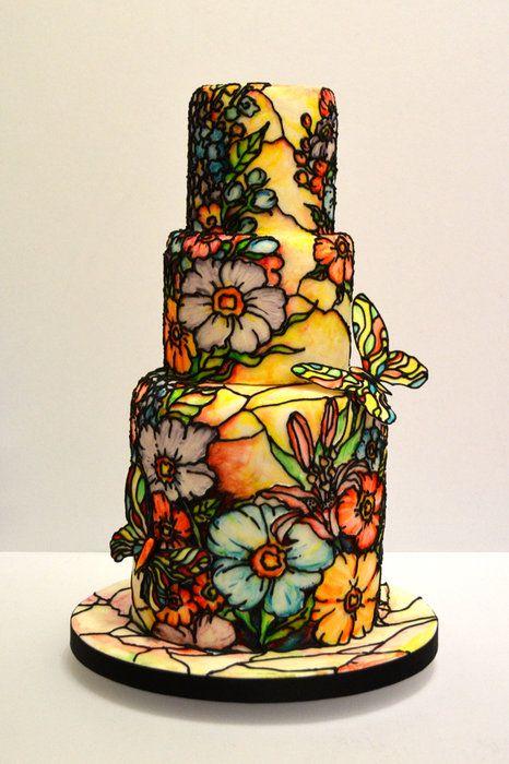 Fleur by vinism sugarart (8/17/2012)  View cake details here: http://cakesdecor.com/cakes/25530