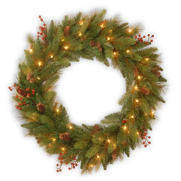Clear   Red Pre Lit Artificial Christmas WreathBest 25  Artificial christmas wreaths ideas only on Pinterest  . Outdoor Wreath With Led Lights. Home Design Ideas