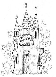 Princess Castle Rubber Stamp...But a great design for a Bird House !!