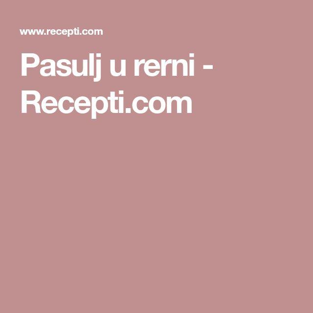 Pasulj u rerni - Recepti.com