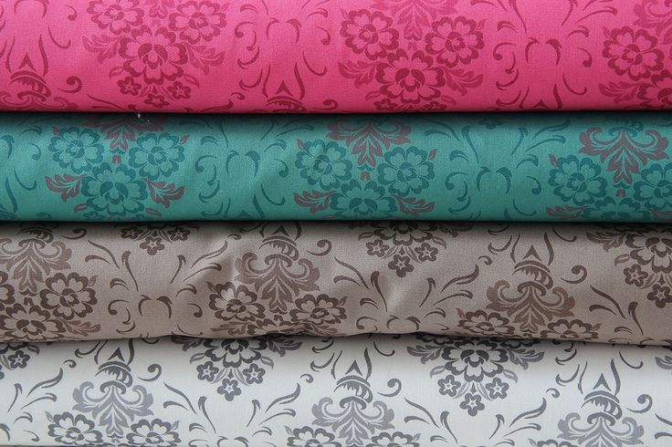 elastická bavlna tapetový vzor růžová | Džínovina | e-zet.cz - obchod s metráží