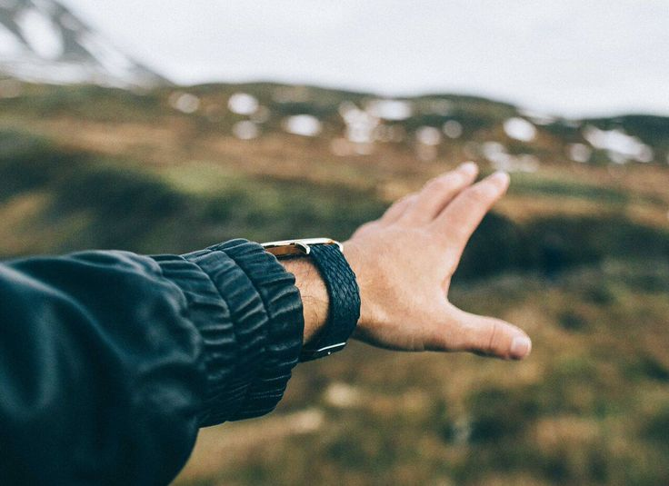 Our salmon watch strap in its natural habitat on Iceland where they are made.