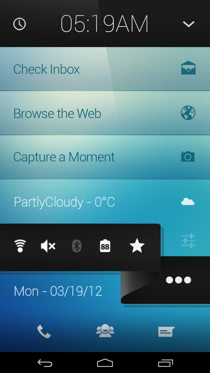 Clear Inspired Homescreen? Android got em!