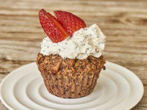 Wellness muffiny z ovesných vloček, banánů a jablek