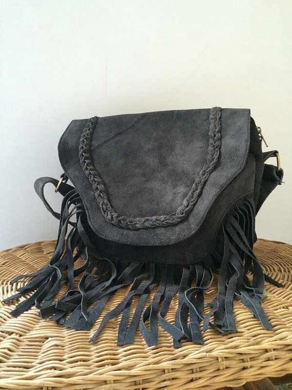 FRINGE BAG €54.99 14 Inches  Suede crossbody bag by ScandaloAlSole