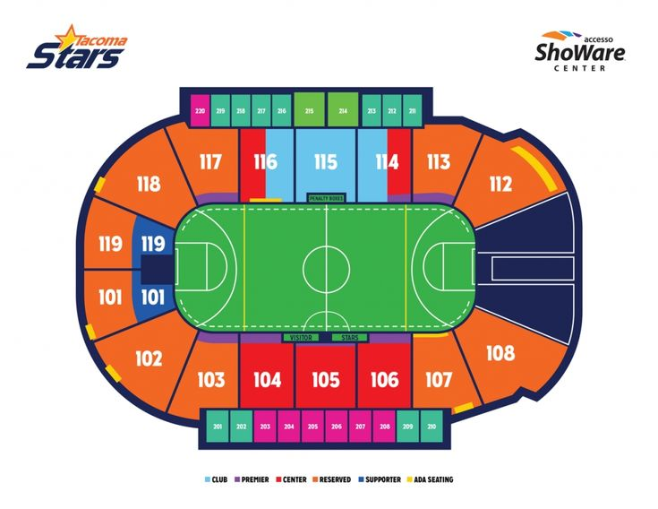 Seating Map Tacoma Stars Throughout Showare Center Seating Chart