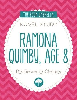 This is a novel study for Ramona Quimby, Age 8 by Beverly Cleary. 48 pages of student work, plus an answer key! This novel study divides Ramona Quimby, Age 8 into six sections for study.