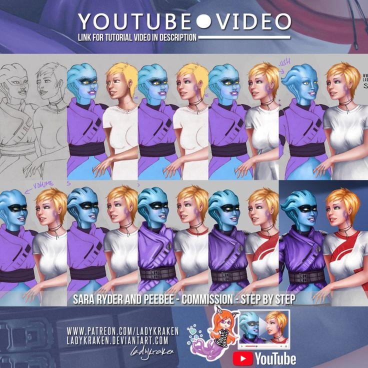 Sara Ryder Peebee - Commission - Video Tutorial by LadyKraken.deviantart.com on @DeviantArt  #alien #aliengirl #andromeda #bellybutton #blueskin #blueskinnedgirl #commission #couple #couplelove #digitalpainting #fanart #fanartdigital #fetish #fetishart #january #love #lovecouple #lovely #navel #painting #peebee #photoshop #preview #rewards #tutorial #video #youtube #yuri #yurilove #coupleromance #fetishgirls #masseffect #videotutorial #yuricouple #couplecommission #navelbellybutton