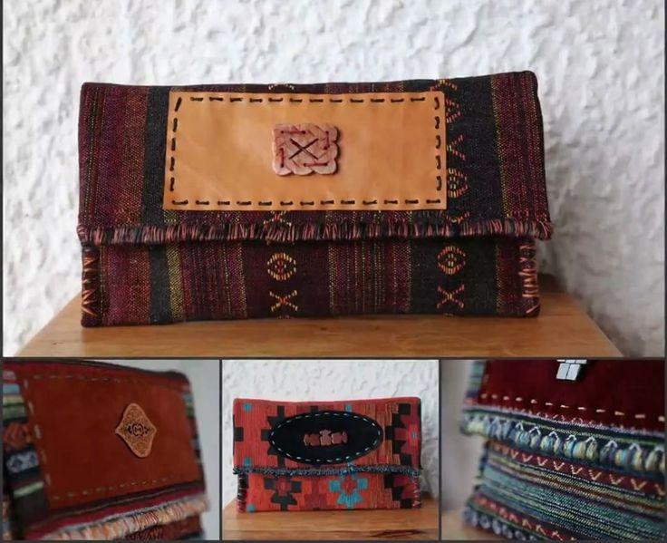 Τσάντες Large Clutch από υφαντά από την Ταϊλάνδη που συνδυάζουν το bohemian με το ethnic στυλ.   Ethnic Clutch Bag #Boho Handwoven Clutch #Tribal Large Clutch Bag #Thai Clutch Bag #Oversized Clutch #Aztec Bag