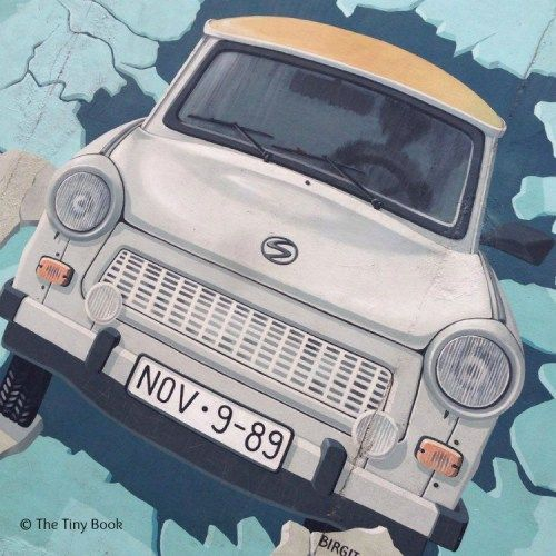 Art on the Berlin Wall- Trabant cart