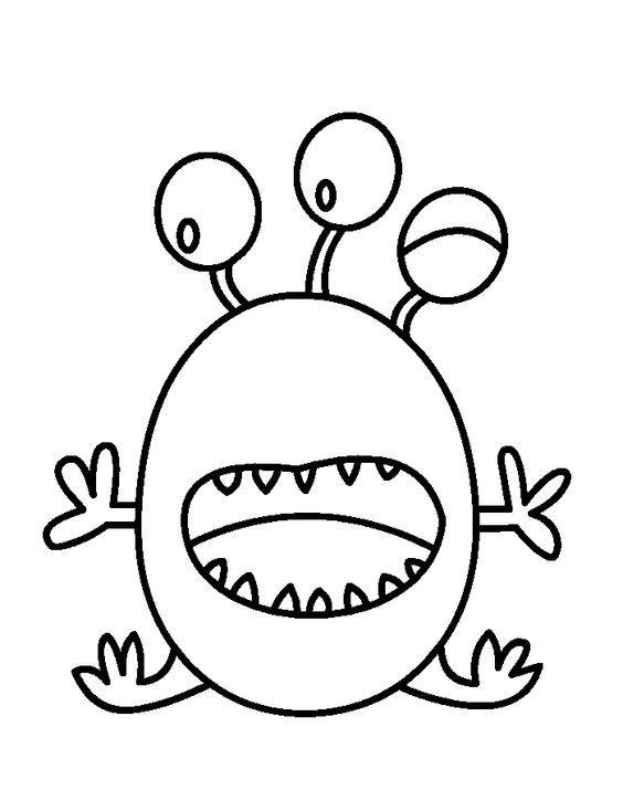 Afbeeldingsresultaat voor Monsters kleurplaat