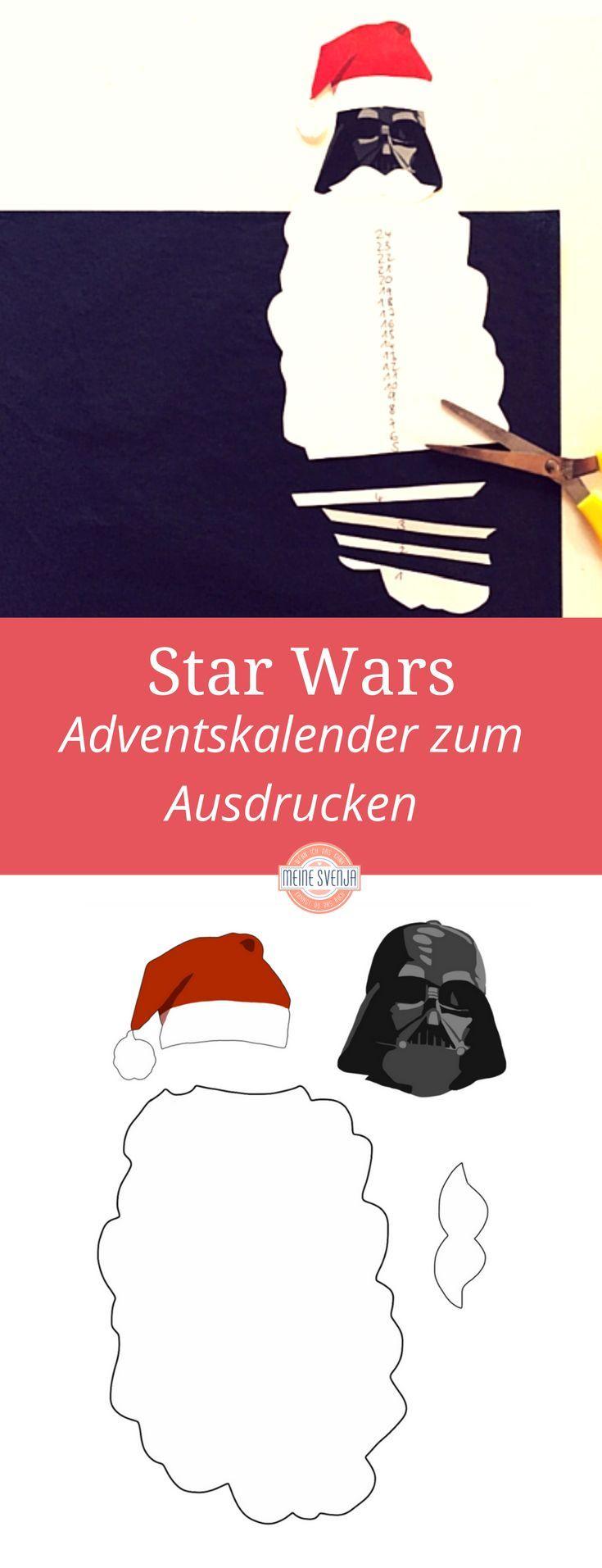 Star Wars Kalender zum Ausdrucken - kostenlos!!! Falls eure Kinder auch so kleine Star Wars Fans sind wie meine, ist das genau das Richtige für euch. Wir haben die Star Wars Adventskalender mit unseren Viertklässlern beim Weihnachtsbasteln in der Schule gestaltet. Hier gehts lang zum free Download http://www.meinesvenja.de/2015/11/20/star-wars-adventskalender/ *** Free printable Star wars advent calendar