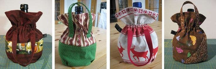 Bocksbeutel Täschchen / Verpackung eine schöne Verpackung für die Weinflasche. Auch für Weihnachten eine schöne Idee