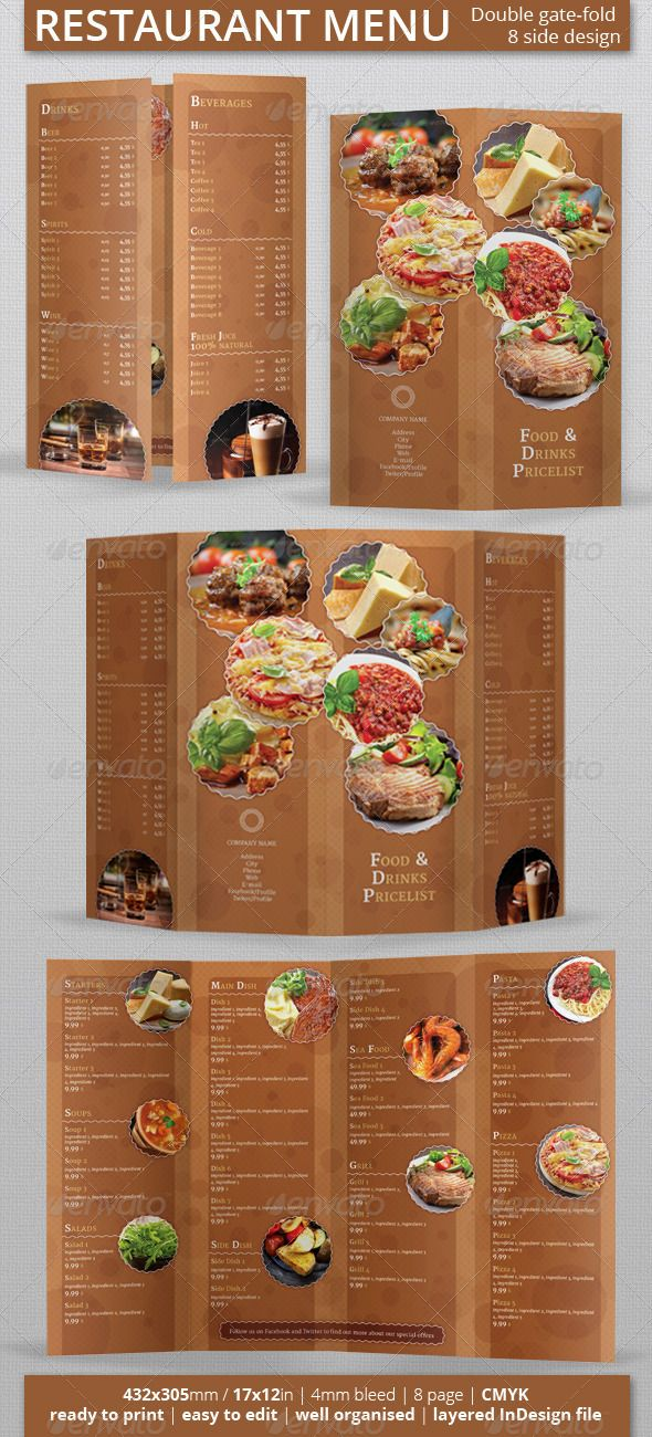 Best Restaurant Food Images On   Flyer Design
